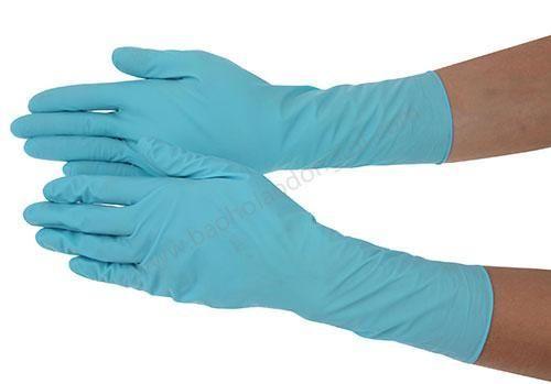 Gang tay Nitrile mau xanh