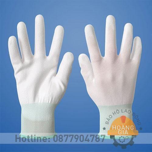 Găng tay polyester phủ PU lòng bàn tay
