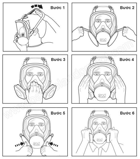 cách đeo mặt nạ phòng độc lên mặt