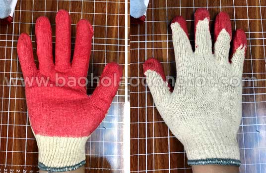 găng tay sợi len phủ cao su