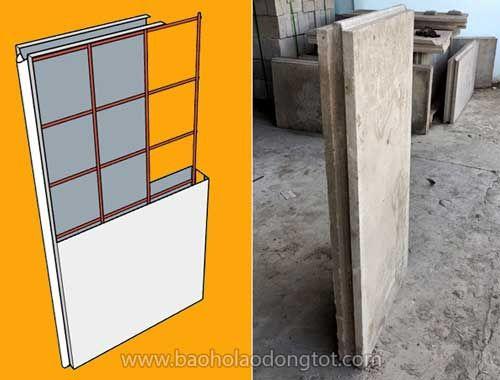 tấm panel bê tông nhẹ ghép tường